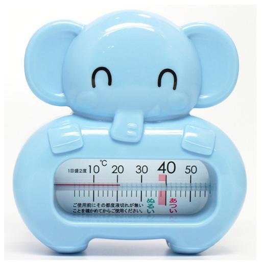 阿卡佳 宝宝洗澡 卡通大象动物水温计