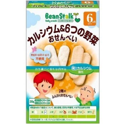 雪印宝宝零食高钙米饼 6种蔬菜米饼干组合
