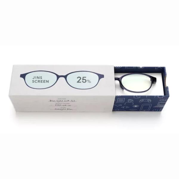 JINS 25%蓝光眼镜FPC-17A-101蓝色 成人用
