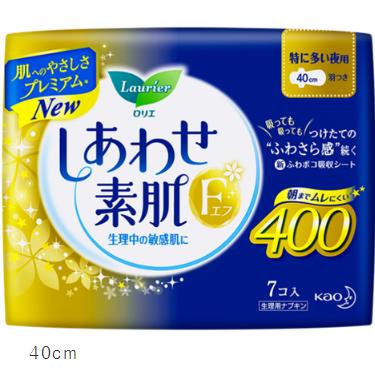 花王乐而雅F系瞬吸棉柔卫生巾夜用40cm*7片