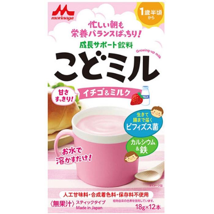 森永 儿童补钙补铁营养双歧杆菌草莓味奶粉