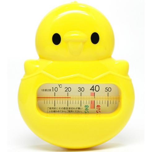 阿卡佳 宝宝洗澡 卡通小鸡动物水温计