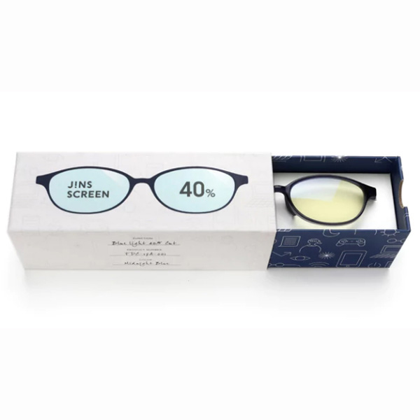 JINS 40%蓝光眼镜FPC-17A-001蓝色 成人用