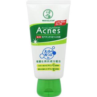 Acnes磨砂清洁毛孔洗面奶