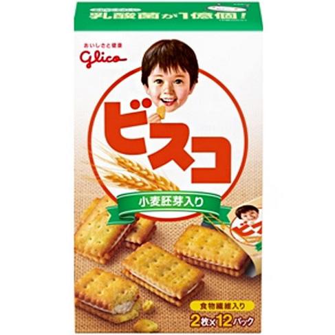 江崎固力果 香草风味小麦胚芽奶油饼干