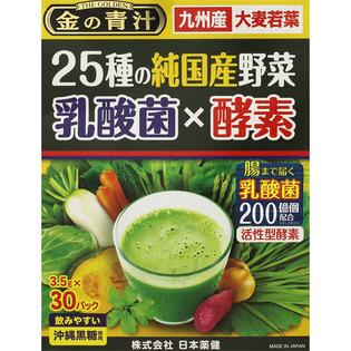 日本药健 金青汁25种国产蔬菜乳酸菌×酵素30包
