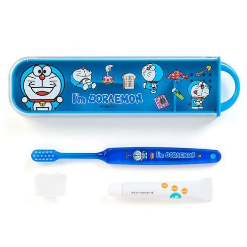 机器猫 儿童便携式牙刷牙膏套装