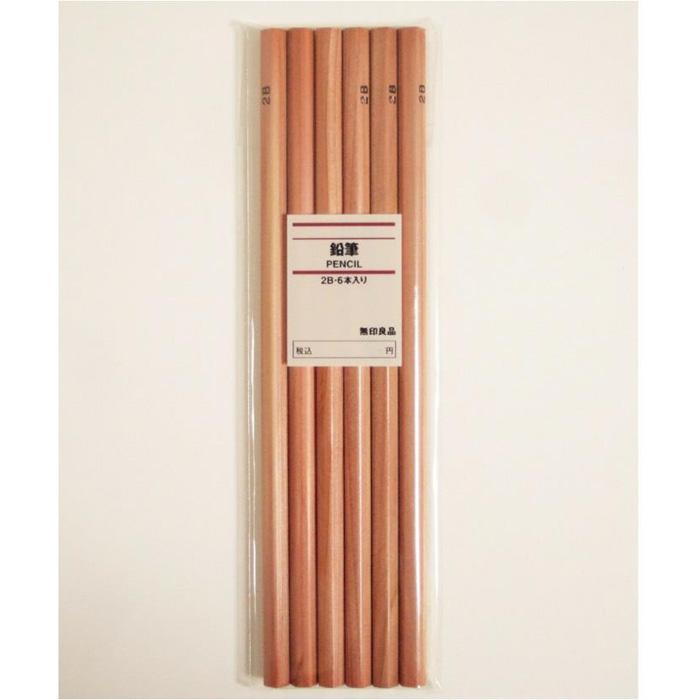 MUJI无印良品 2B铅笔6支装