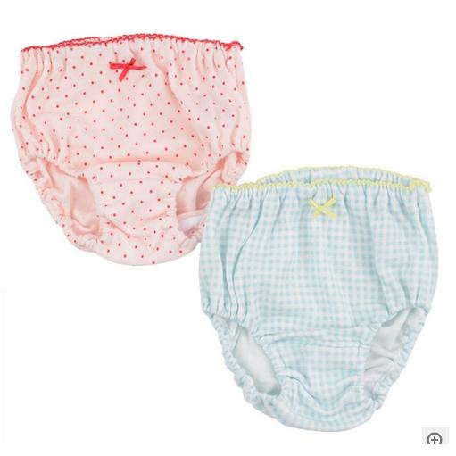 女宝内裤2条装100cm粉加蓝