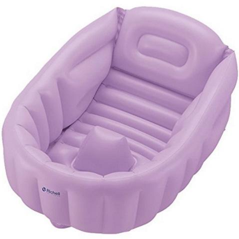 利其尔宝宝充气浴盆 紫色