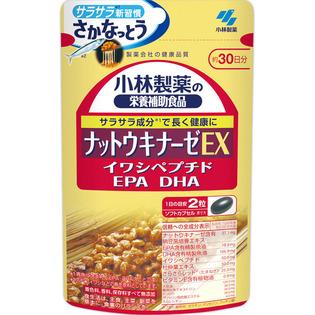 小林制药 纳豆激酶胶囊EX配合EPA DHA鱼油60粒