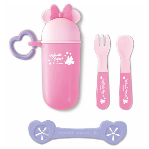 锦化成 迪士尼宝宝儿童便携餐具组合 粉红色米妮